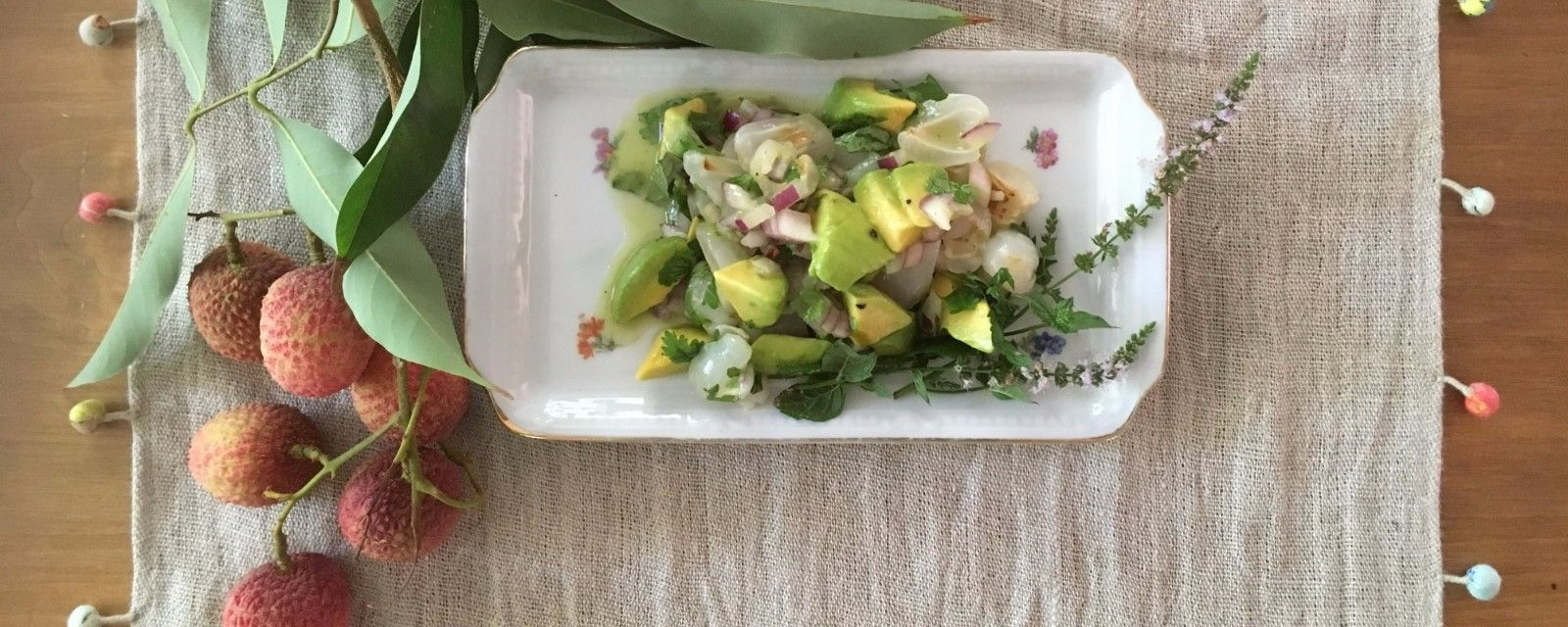 Lychee ceviche with avocado - Beth